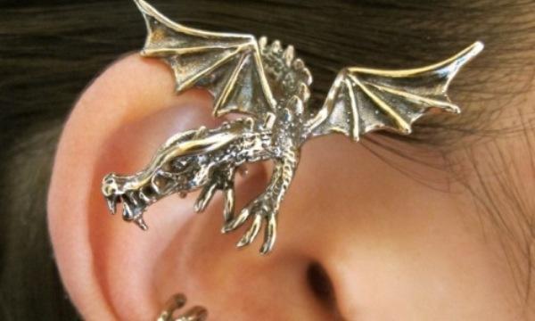 Кафф на ухо в форме дракона