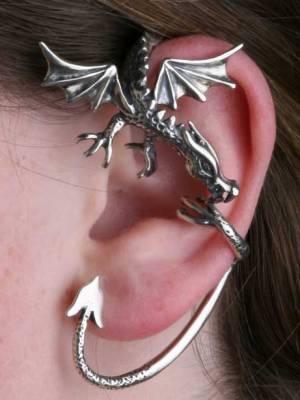 Кафф в форме большого дракона